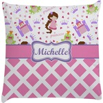 Princess & Diamond Print Decorative Pillow Case (Personalized)