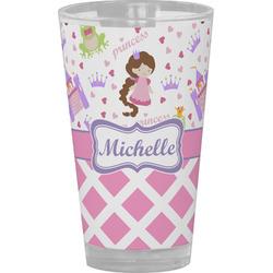 Princess & Diamond Print Drinking / Pint Glass (Personalized)