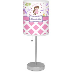 "Princess & Diamond Print 7"" Drum Lamp with Shade (Personalized)"
