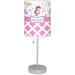 "Princess & Diamond Print 7"" Drum Lamp with Shade (Personalized)"