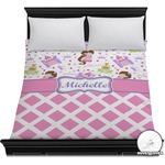 Princess & Diamond Print Duvet Cover (Personalized)