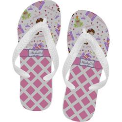 Princess & Diamond Print Flip Flops (Personalized)