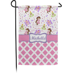Princess & Diamond Print Garden Flag - Single or Double Sided (Personalized)