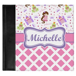 Princess & Diamond Print Genuine Leather Baby Memory Book (Personalized)