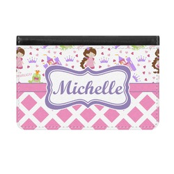 Princess & Diamond Print Genuine Leather ID & Card Wallet - Slim Style (Personalized)