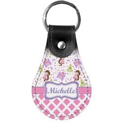 Princess & Diamond Print Genuine Leather  Keychain (Personalized)
