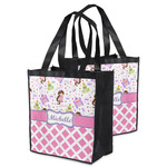 Princess & Diamond Print Grocery Bag (Personalized)