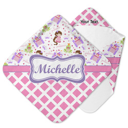 Princess & Diamond Print Hooded Baby Towel (Personalized)