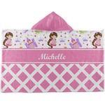Princess & Diamond Print Kids Hooded Towel (Personalized)