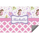 Princess & Diamond Print Indoor / Outdoor Rug (Personalized)