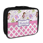 Princess & Diamond Print Insulated Lunch Bag (Personalized)