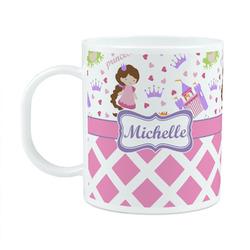 Princess & Diamond Print Plastic Kids Mug (Personalized)
