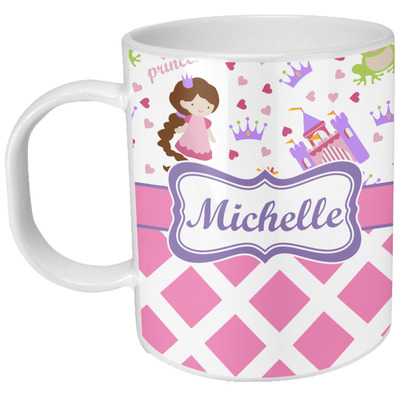 Princess & Diamond Print Plastic Kids Mug (Personalized)