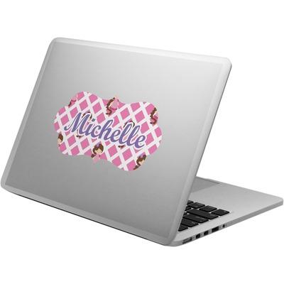 Princess & Diamond Print Laptop Decal (Personalized)