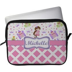 "Princess & Diamond Print Laptop Sleeve / Case - 12"" (Personalized)"