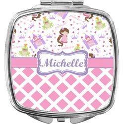 Princess & Diamond Print Compact Makeup Mirror (Personalized)