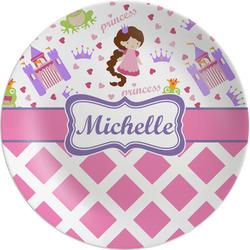 "Princess & Diamond Print Melamine Salad Plate - 8"" (Personalized)"