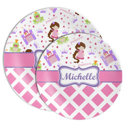 Princess & Diamond Print Melamine Plate (Personalized)