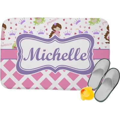Princess & Diamond Print Memory Foam Bath Mat (Personalized)