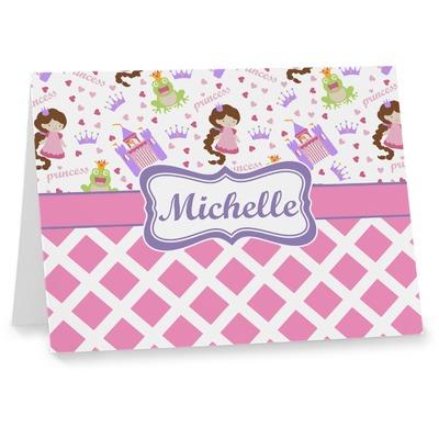 Princess & Diamond Print Note cards (Personalized)