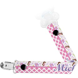 Princess & Diamond Print Pacifier Clips (Personalized)