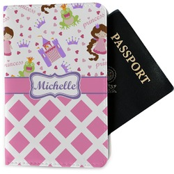 Princess & Diamond Print Passport Holder - Fabric (Personalized)