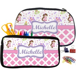 Princess & Diamond Print Pencil / School Supplies Bag (Personalized)