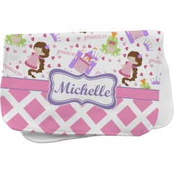 Princess & Diamond Print Burp Cloth (Personalized)