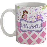 Princess & Diamond Print Coffee Mug (Personalized)