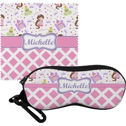 Princess & Diamond Print Eyeglass Case & Cloth (Personalized)