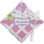 Princess & Diamond Print Napkins (Set of 4) (Personalized)