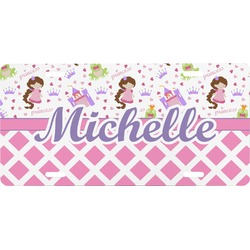 Princess & Diamond Print Front License Plate (Personalized)