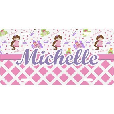 Princess & Diamond Print Front License Plate (Personalized)