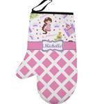 Princess & Diamond Print Left Oven Mitt (Personalized)