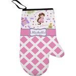 Princess & Diamond Print Right Oven Mitt (Personalized)