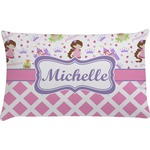 Princess & Diamond Print Pillow Case - Standard (Personalized)