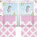 Princess & Diamond Print Sheer Curtains (Personalized)