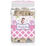 Princess & Diamond Print Dog Treat Jar (Personalized)