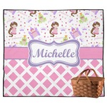 Princess & Diamond Print Outdoor Picnic Blanket (Personalized)