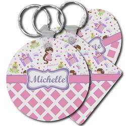 Princess & Diamond Print Plastic Keychains (Personalized)
