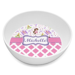 Princess & Diamond Print Melamine Bowl 8oz (Personalized)