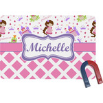 Princess & Diamond Print Rectangular Fridge Magnet (Personalized)