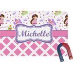 Princess & Diamond Print Rectangular Fridge Magnet (Personalized)