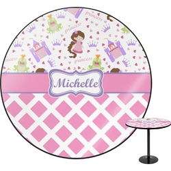Princess & Diamond Print Round Table (Personalized)