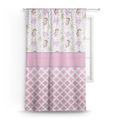 Princess & Diamond Print Sheer Curtains (Personalized)
