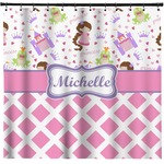 Princess & Diamond Print Shower Curtain (Personalized)