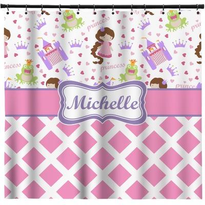 Princess & Diamond Print Shower Curtain (Personalized)