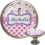 Princess & Diamond Print Cabinet Knob (Silver) (Personalized)