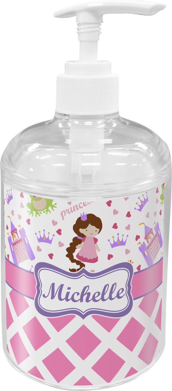 Holder Personalized Princess Diamond Print Soap Lotion Dispenser