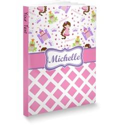 "Princess & Diamond Print Softbound Notebook - 7.25"" x 10"" (Personalized)"